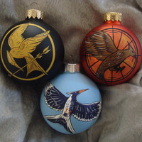 hunger games ornament mocking jay pin inspired by TotallyObsessed