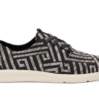 Black White Woven Men's Viaje Sneakers