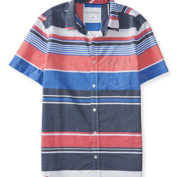 Stripe Mix Woven Shirt