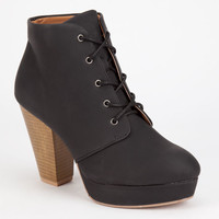 Qupid Twilight Womens Booties Black  In Sizes