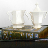 White Sugar and Creamer Nikko Classic Collection Japan
