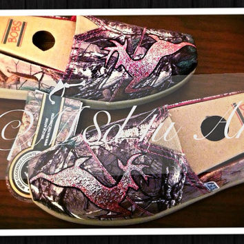 Painted John Deere camo realtree country girl shoes- BOBS Included