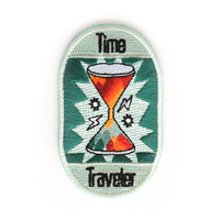 Time Traveler Iron On Patch by ZipperTeethShop on Etsy