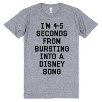 4-5 Seconds-Unisex Athletic Grey T-Shirt