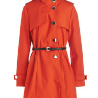 ModCloth Menswear Inspired Long Long Sleeve If It Makes You Poppy Coat
