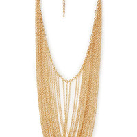 FOREVER 21 Draped Chain Necklace Gold One