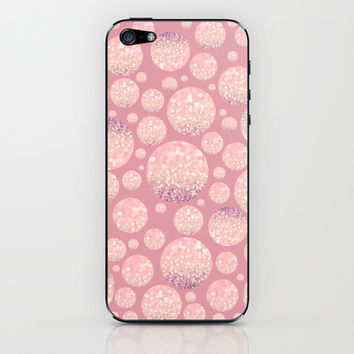 Blushing Bokeh Dots iPhone & iPod Skin by Lisa Argyropoulos