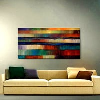CUSTOM PAINTING Abstract Large 24X48 60cm X by americanartsgallery