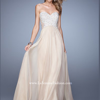 Sweetheart Beaded Flowing A-line La Femme Prom Dress 20952