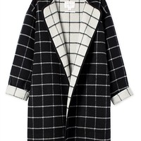 Double Faced Checked Coat