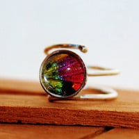 Real Sunset Moth Wing Sterling Silver Ring by Athenianaire on Etsy