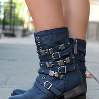 Rebel Spirits Bootie - Navy