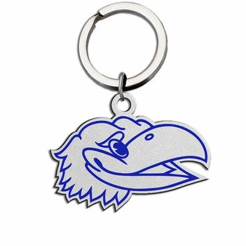 Kansas Jayhawks Large Size Stainless Steel Key Ring With Color