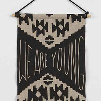 We Are Young Flag- Black & White One