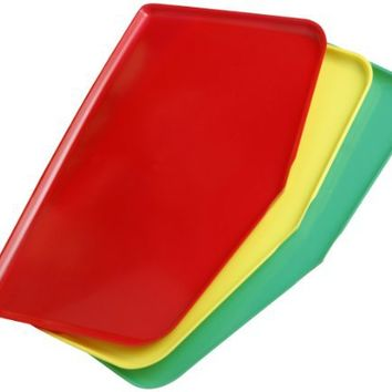 Argee  RG909-3/24 Chop Keeper Flexible Chopping Tray, Red, Green and Yellow, 3-Pack