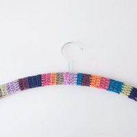 Crochet Wooden Clothes Hanger ' Shabby Chic ' Granny Chic ' Boho ' Cottage Chic