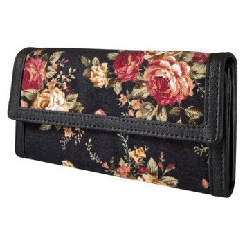 Mossimo Supply Co. Black Cabbage Floral