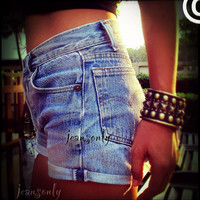 Vinatage high waisted cut off denim shorts by Jeansonly