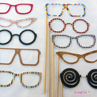 Vintage Photo Prop Glasses Photo booth Props by livelaughlovelots