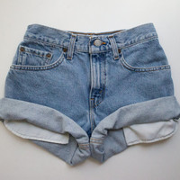 """ALL SIZES Vintage """"HERCULES"""" Levis High Waisted Denim Shorts"""