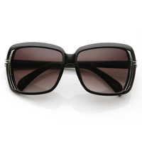Designer Square High Fashion Oversize Chic Sunglasses 8628