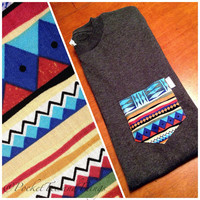 Navajo Pocket Tee Size Unisex Adult Small by PocketTeesandThings