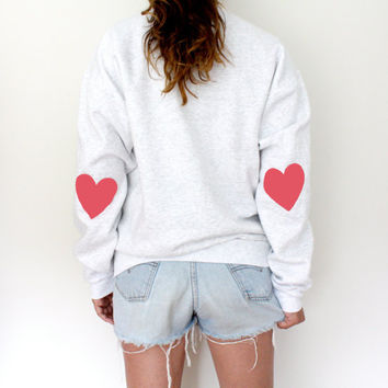 Elbow Heart Sweatshirt - Bubblegum Pink