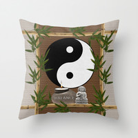 The Balance of Yin Yang Throw Pillow by LLL Creations