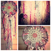 Dreamcatcher with key and mirror charms light by TheLittleBigShop