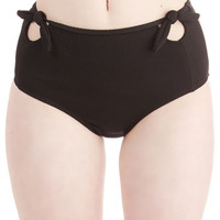 Pool it Together Swimsuit Bottom in Black | Mod Retro Vintage Bathing Suits | ModCloth.com