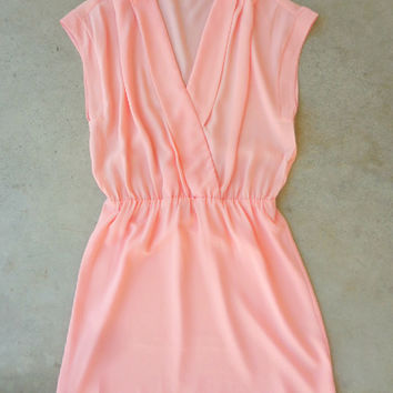 Summer Grove Dress in Peach [6872] - $36.00 : Feminine, Bohemian, & Vintage Inspired Clothing at Affordable Prices, deloom