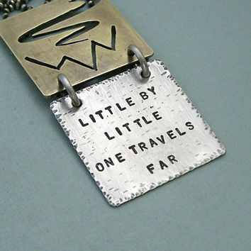 Tolkien Quote Necklace Hand Stamped Brass and by MadamePoindextra
