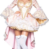 InCharacter Costumes Vixen Of Versailles, Pink/White, Large