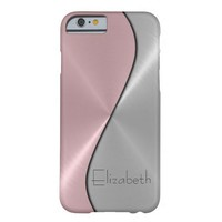 Silver and Pink Stainless Steel Metal