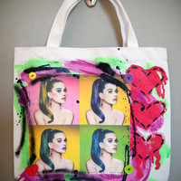 KATY PERRY - I Wanna See Your Peacock Pop Art Tote Bag