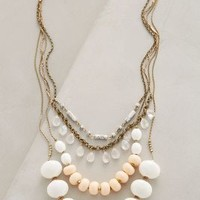 Layered Hemisphere Necklace by Anthropologie White One Size Necklaces