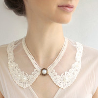 Bib lace collar peter pan collar Christmas gift FREE SHIPPING necklace victorian jewelry