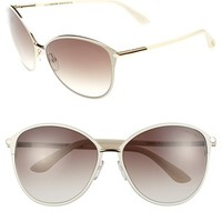 Women's Tom Ford 'Penelope' 59mm Sunglasses - Shiny Rose Gold/ Ivory