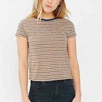 BDG Striped Shrunken Tee- Mustard
