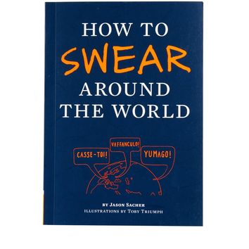 How to Swear Around the World Book - Blue