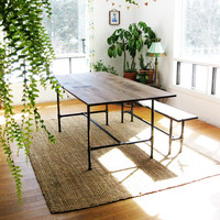 The Ziggy  dining table made from recycled by BlisscraftandBrazen