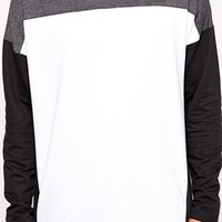 ASOS Oversized Long Sleeve T-Shirt With Mesh Cut And Sew