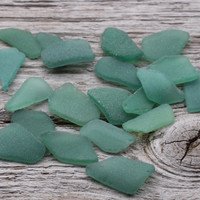 Dark Mint MEDIUM Sea Glass Bulk Beach Glass Bulk Wedding Glass