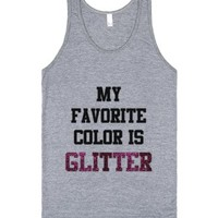 My favorite color is glitter-Unisex Athletic Grey Tank