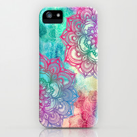 Round & Round the Rainbow iPhone & iPod Case by Micklyn