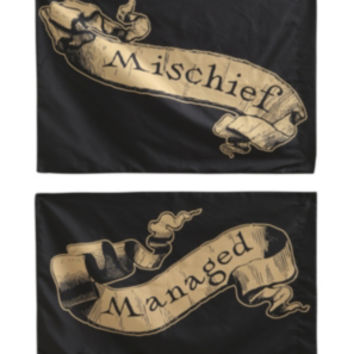 Harry Potter Mischief Managed Pillowcase Set