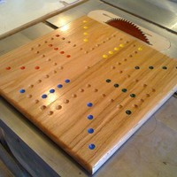 FOUR Player Solid Oak Aggravation Game Board by woodcraftstore