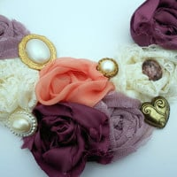 The Abigail Bib Necklace with Handmade by CountryMermaids on Etsy