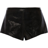 Mason by Michelle Mason Patent leather-paneled cady shorts – 65% at THE OUTNET.COM