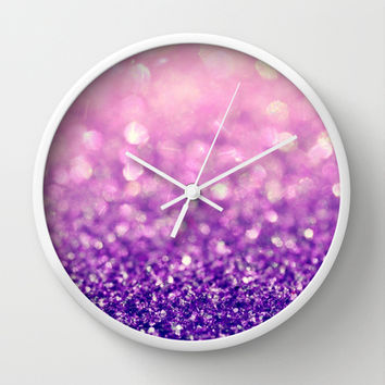Fizzy Grape Wall Clock by Lisa Argyropoulos